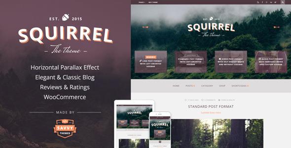 Squirrel - A Responsive WordPress Blog Theme - Personal Blog / Magazine