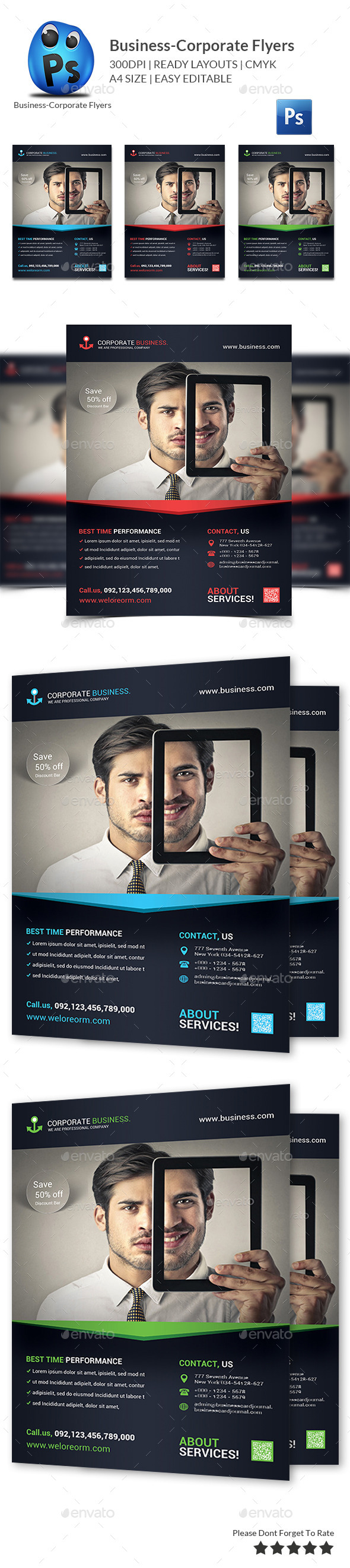 GraphicRiver Corporate Business Flyer Template 9997954