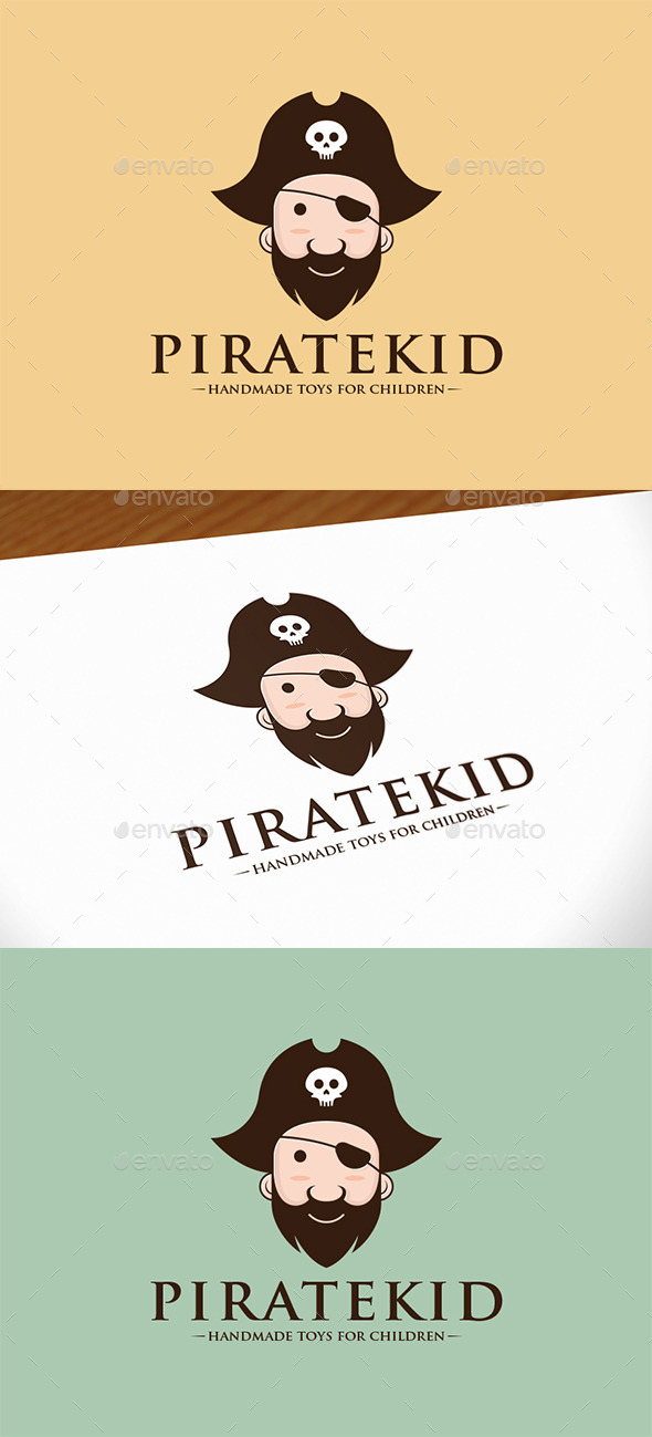GraphicRiver Pirate Kid Logo Template 9998101