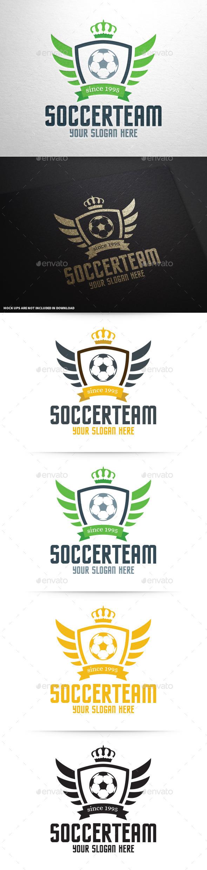 GraphicRiver Soccer Team Logo Template 9998123