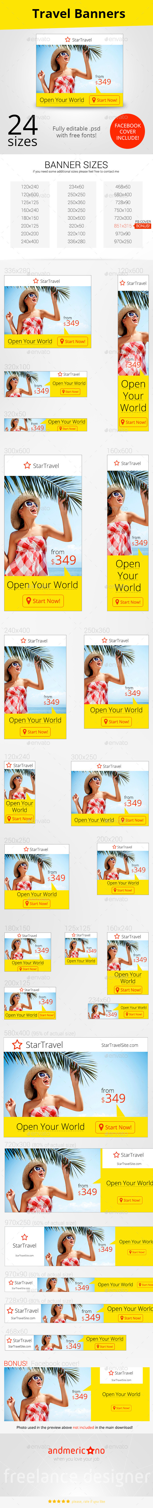 GraphicRiver Travel Ad Banners 9998128
