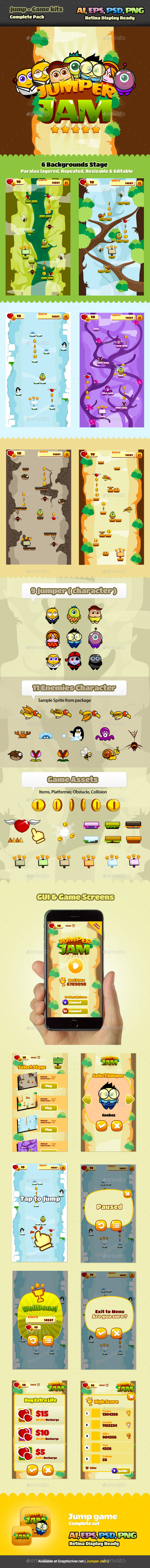 GraphicRiver Jump Game Kits 9998158