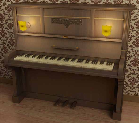 3DOcean Piano 19th 20th Century 9998243