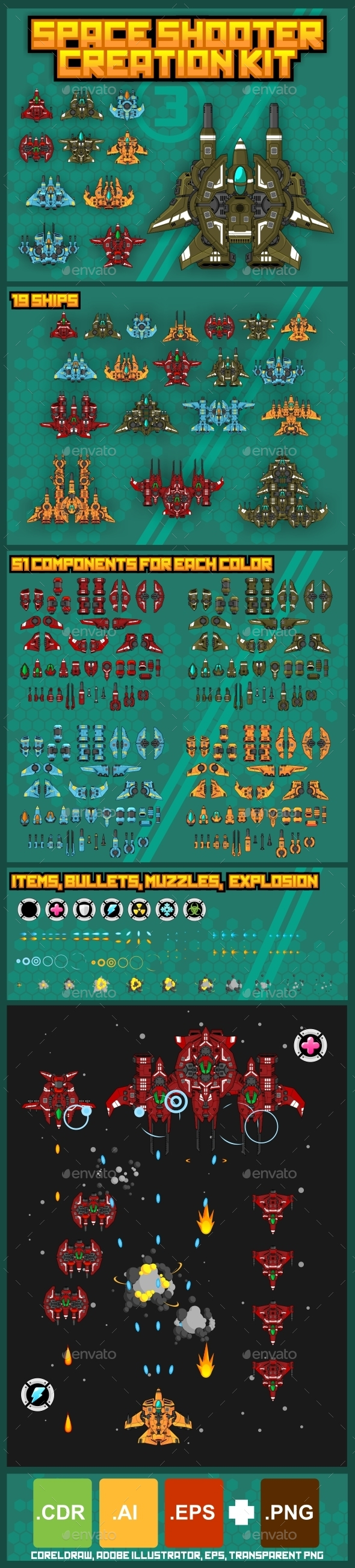 GraphicRiver Space Shooter Creation Kit 3 9998345