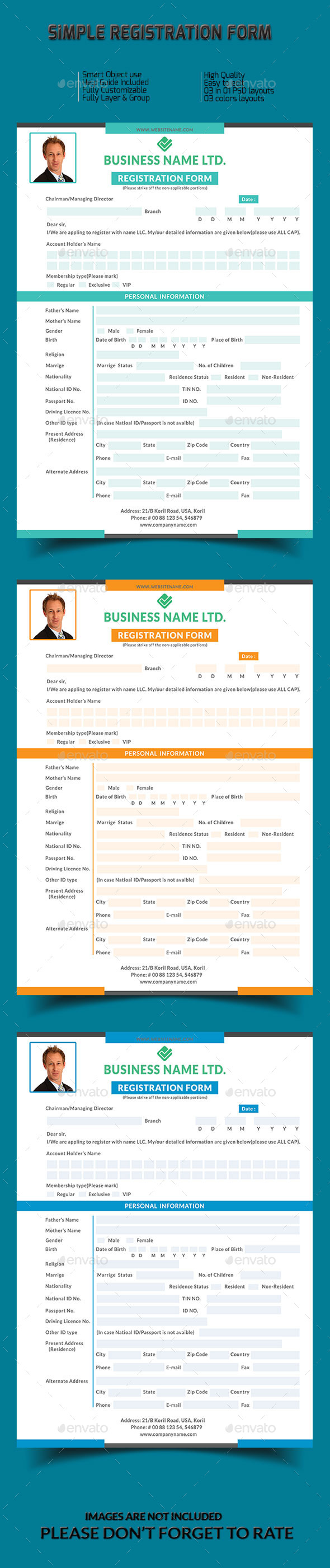 GraphicRiver Simple Registration Form 9998356