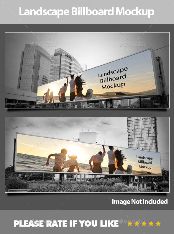 GraphicRiver Landscape Billboard Mockup 9998865