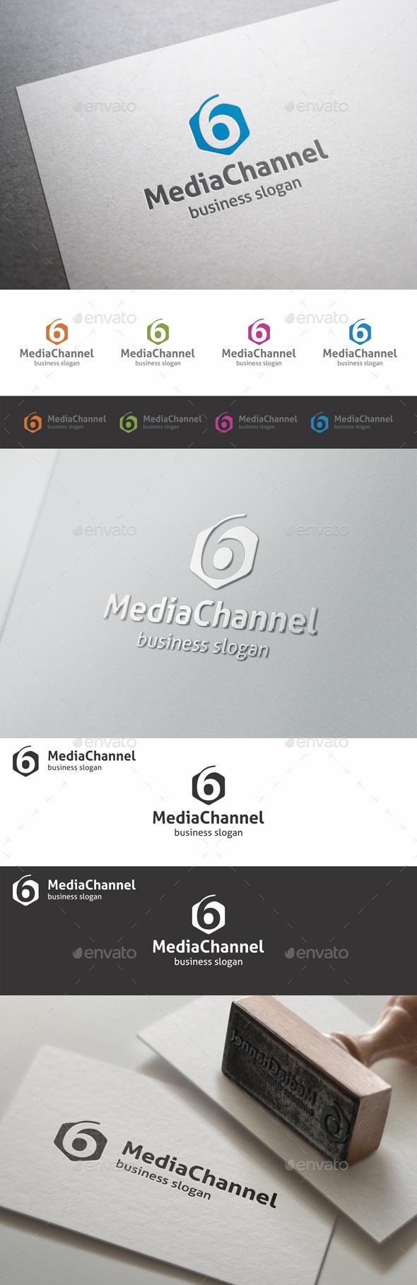 GraphicRiver Six Media Channel Studio Logo 9998943