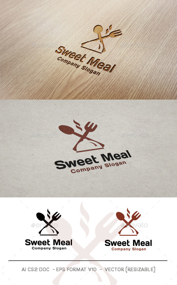GraphicRiver Sweet Meal Logo 9998998