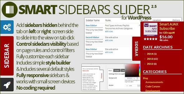 Smart Sidebars Slider - CodeCanyon Item for Sale