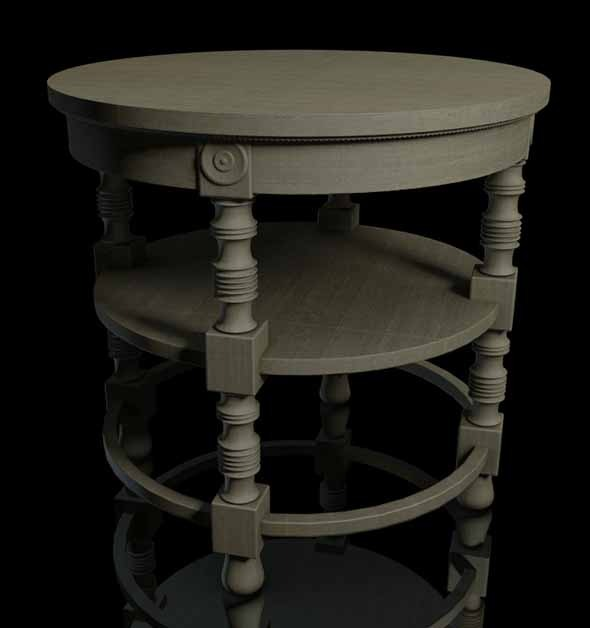3DOcean Coffee Table 19th Century 9999210