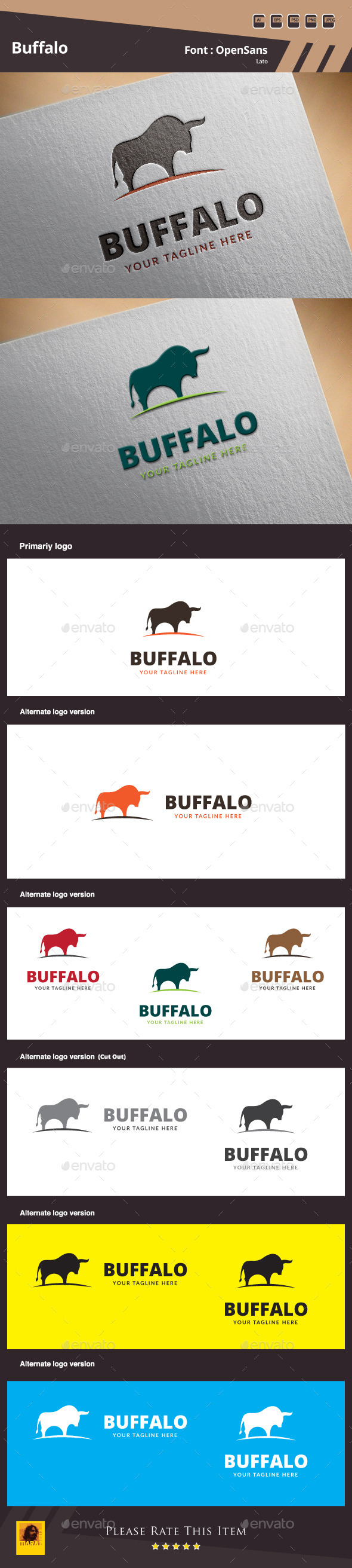 GraphicRiver Buffalo Logo Template 9999225