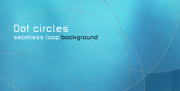 VideoHive DOT CIRCLES seamless loop Background 126640