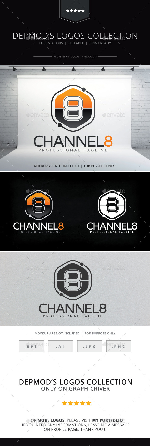 GraphicRiver Channel 8 Logo 9999540
