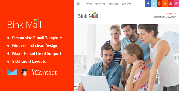 ThemeForest Bink Mail- Responsive E-mail Template 9999633