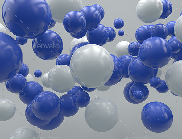 GraphicRiver 3D- Flying Balls 9999634