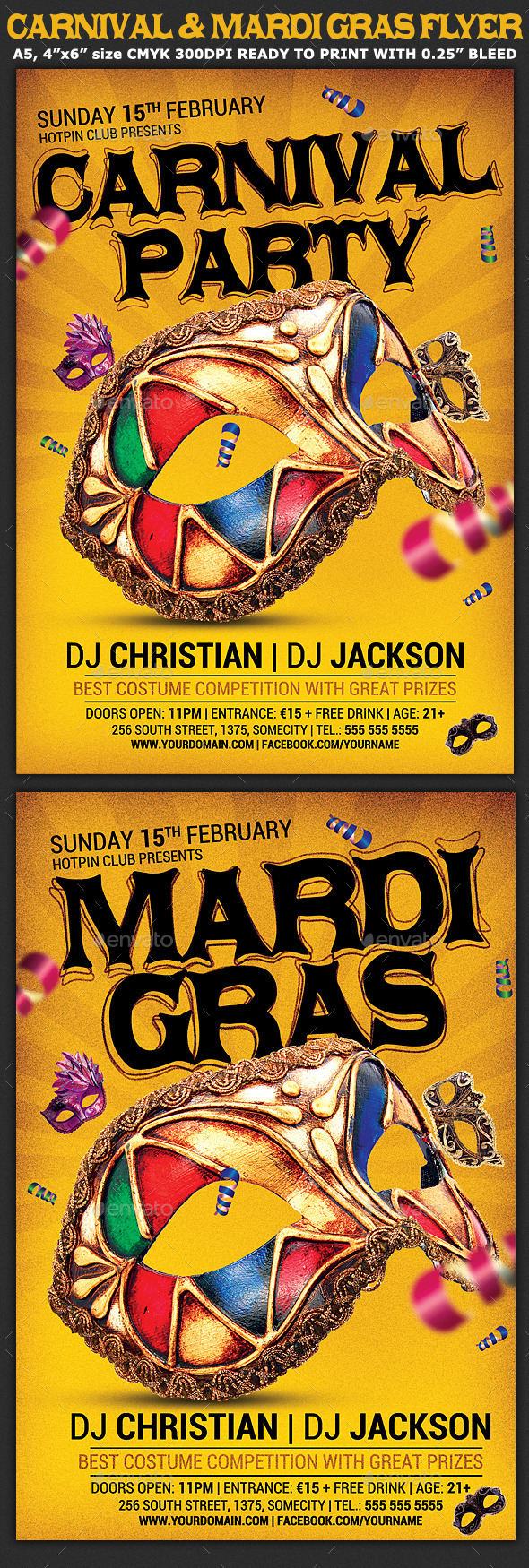GraphicRiver Carnival n Mardi Gras Party Flyer v4 9979289