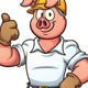 Construction Worker Pig - GraphicRiver Item for Sale