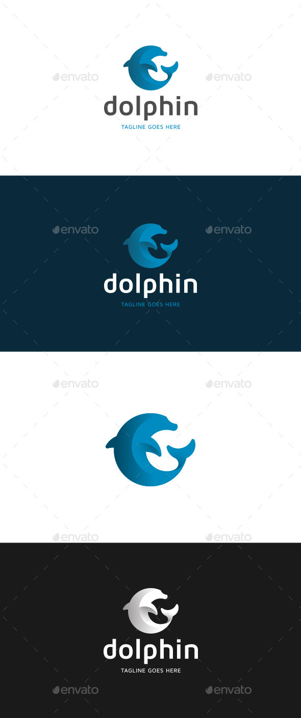 GraphicRiver Dolphin Logo Template 9999672