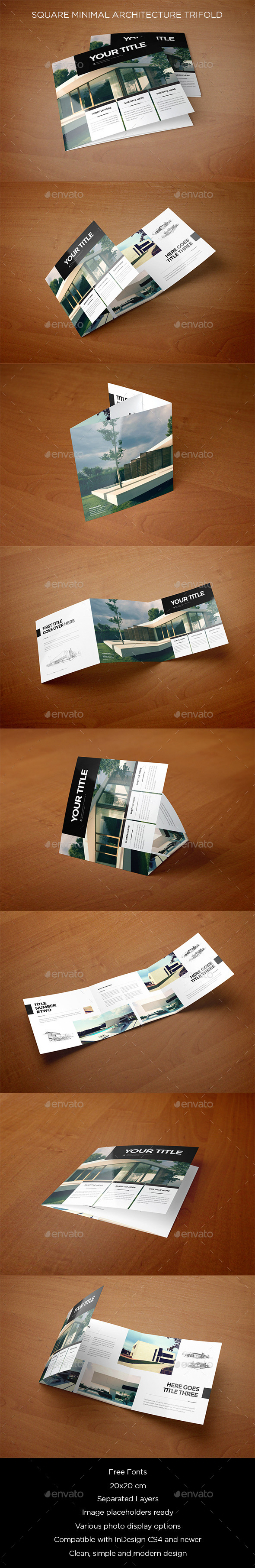 GraphicRiver Square Minimal Architecture Trifold 9999674