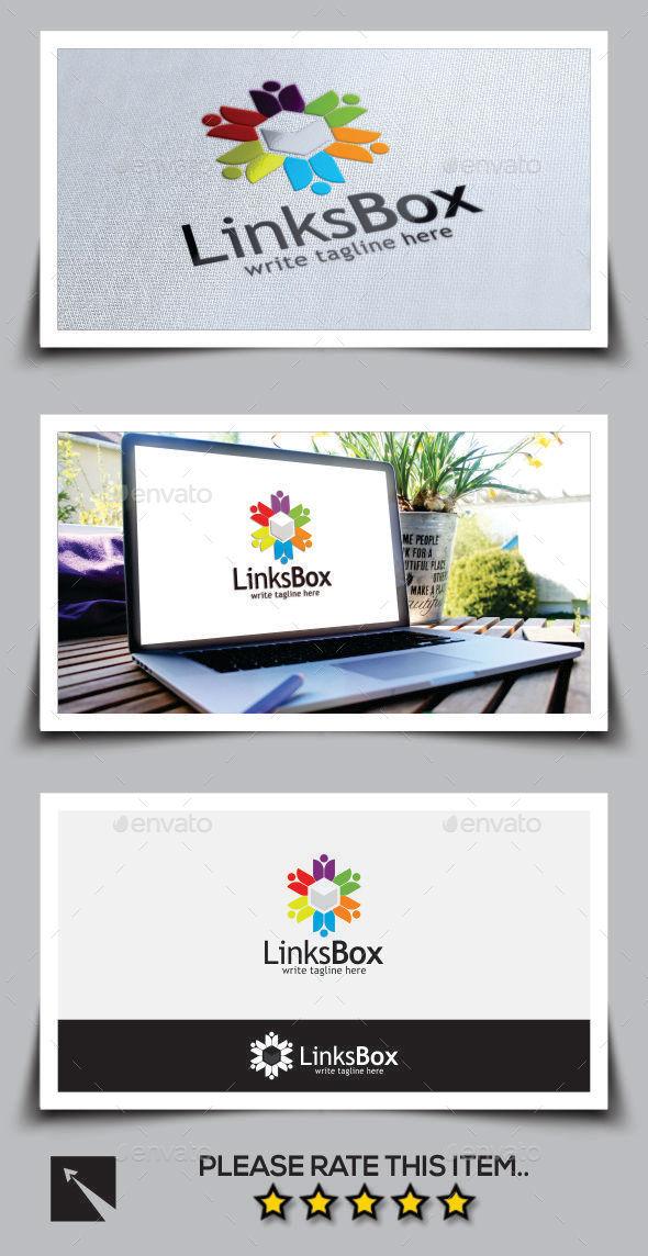 GraphicRiver Social Links Box Logo Template 9999781