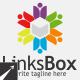 Social Links Box Logo Template - GraphicRiver Item for Sale