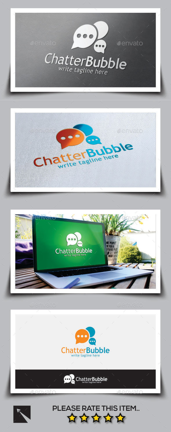 GraphicRiver Chatter Bubble Logo Template 9999792