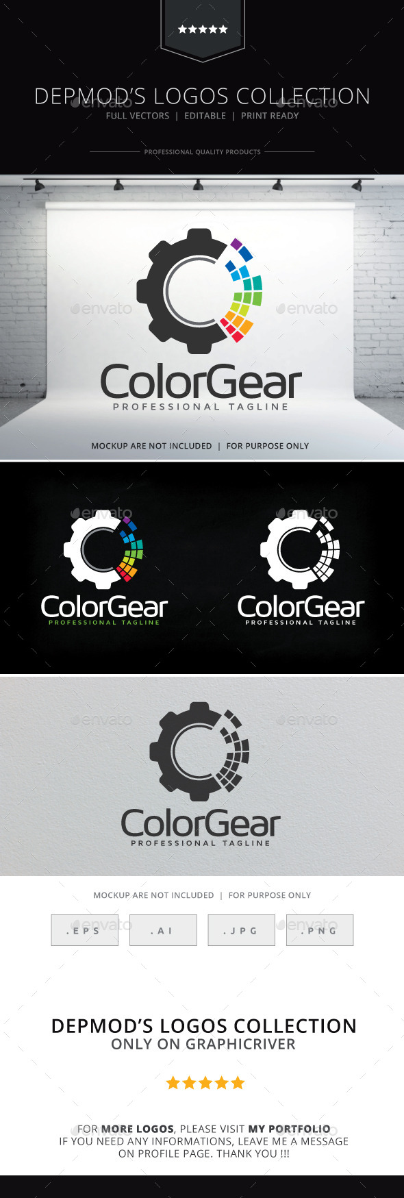 GraphicRiver Color Gear Logo 9999797