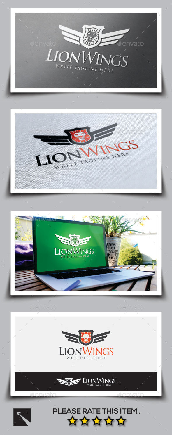 GraphicRiver Lion Wings Logo Template 9999812