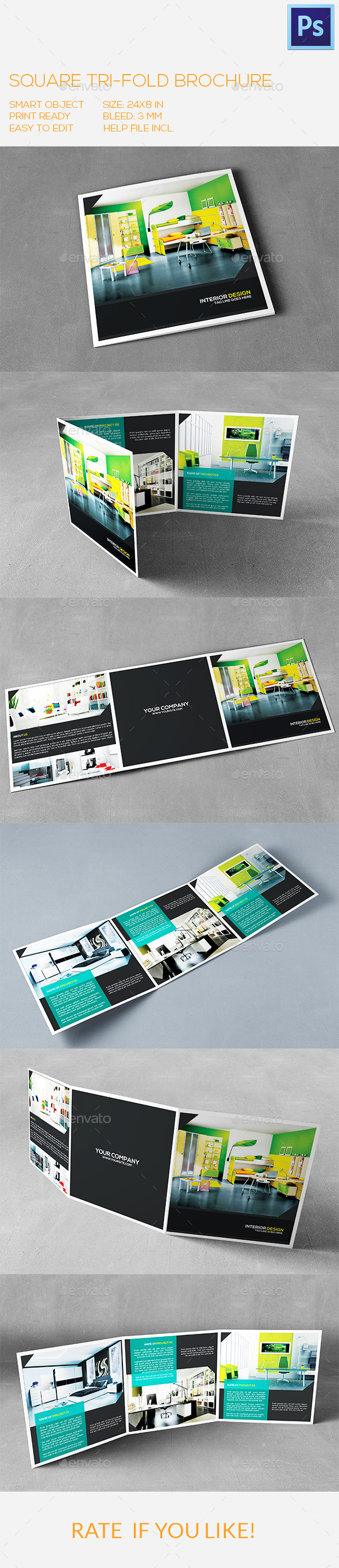 GraphicRiver Square Interior Trifold Brochure 9999828