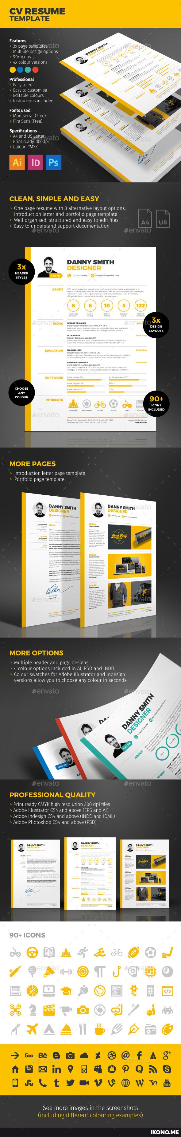 GraphicRiver CV Resume 10000034