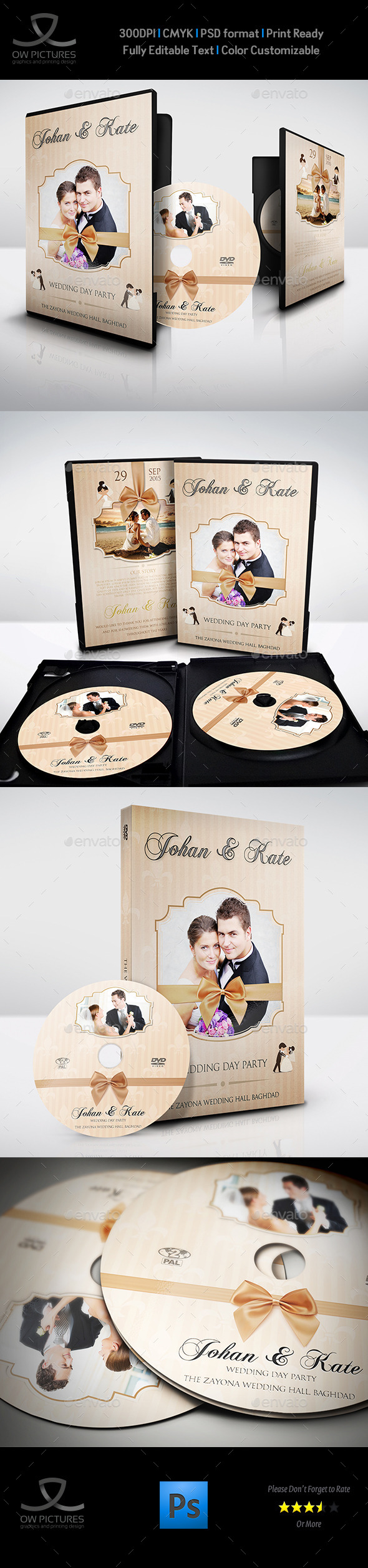 GraphicRiver Wedding DVD Cover and DVD Label Template Vol.5 10000065