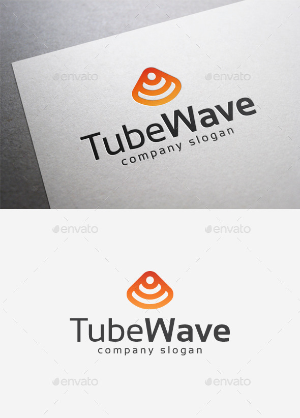 GraphicRiver Tube Wave Logo 9995500