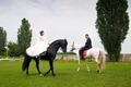 Wedding bride and groom on horseback - PhotoDune Item for Sale