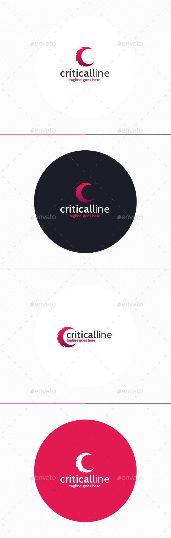 GraphicRiver Critical Line Logo Letter C 10000957