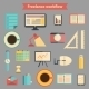 Set of Flat Freelance Workflow Icons - GraphicRiver Item for Sale