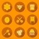 Set of Flat Beekeeping Icons - GraphicRiver Item for Sale