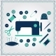 Set of Flat Needlework Icons - GraphicRiver Item for Sale