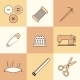 Set of Thin Needlework Icons - GraphicRiver Item for Sale