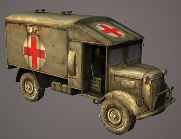 Austin Ambulance - 3DOcean Item for Sale
