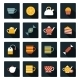 Set of Flat Tea Time Icons - GraphicRiver Item for Sale