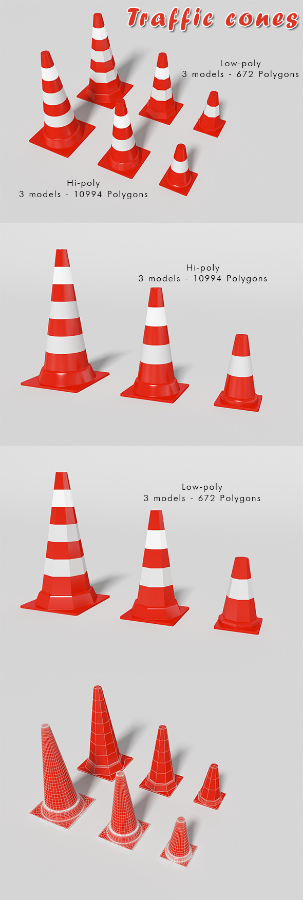 3DOcean Traffic cones 10001161
