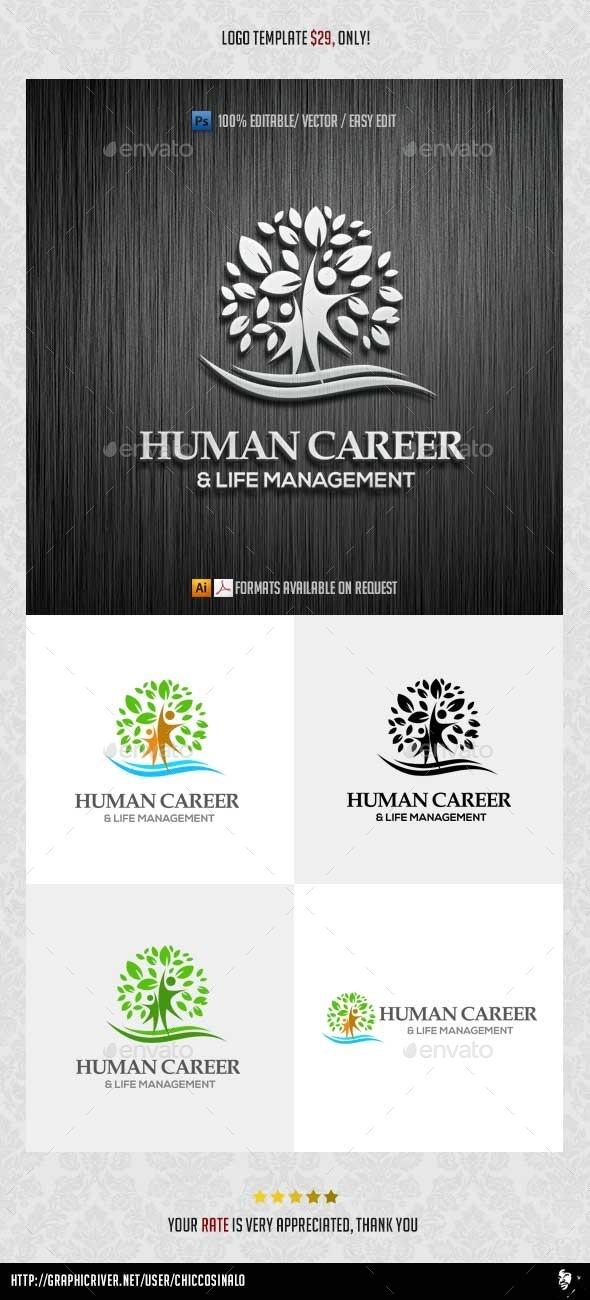 GraphicRiver Human Career Logo Template 10001316