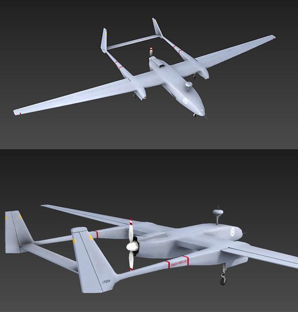 Heron Drone - 3DOcean Item for Sale