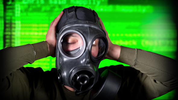 Person Wearing Gasmask 25