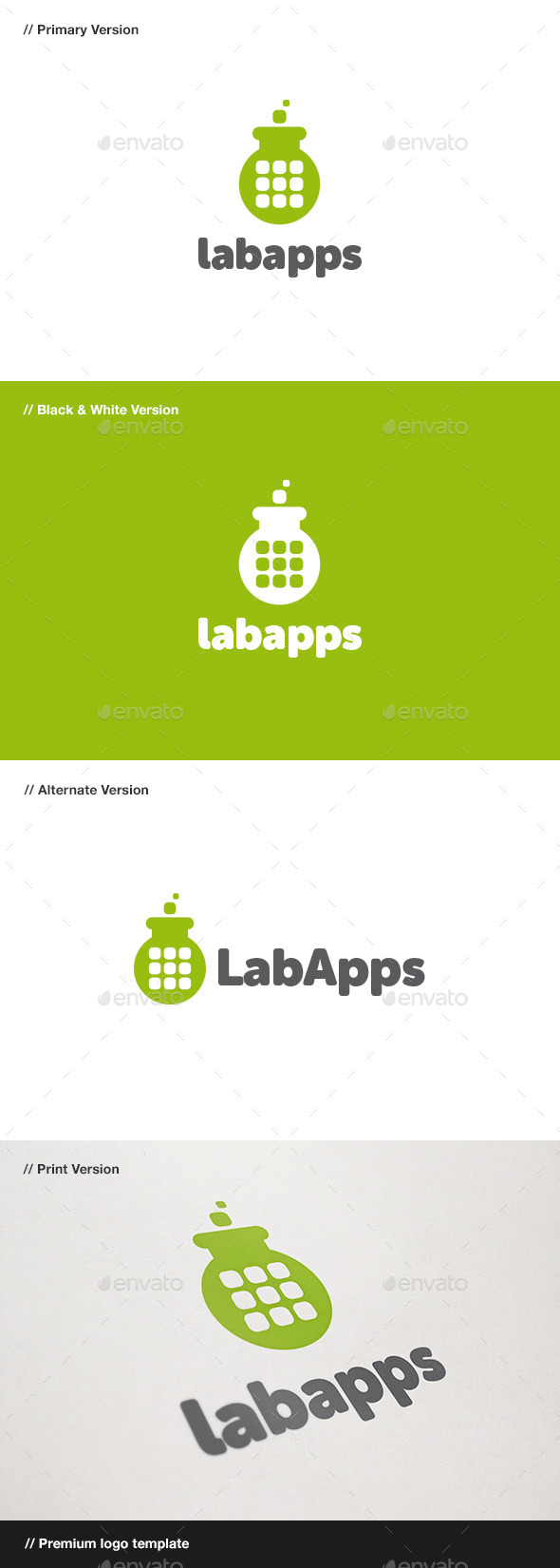 GraphicRiver Lab Apps Logo 10001448