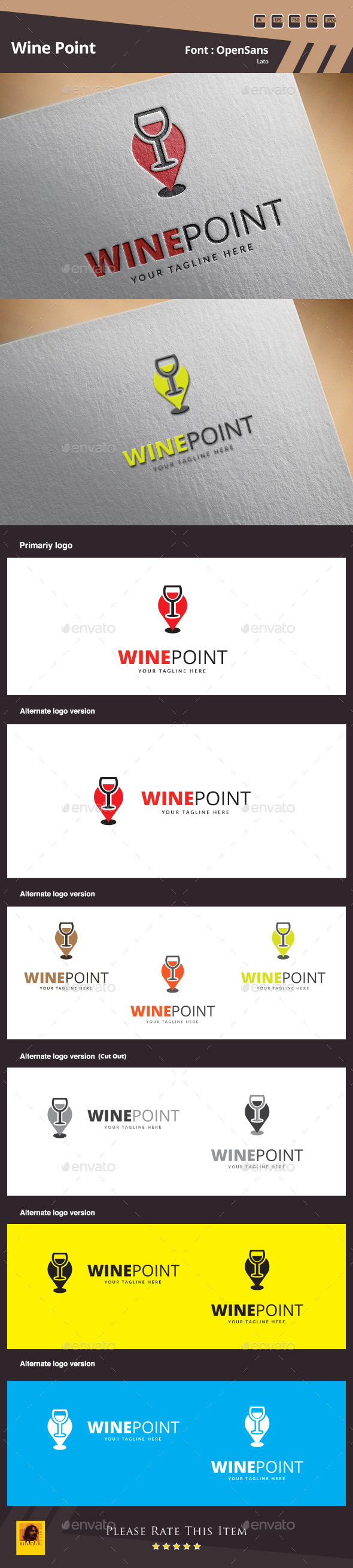 GraphicRiver Wine Point Logo Template 10001464