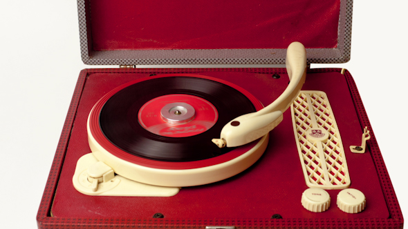 Portable Vintage Record Player 2