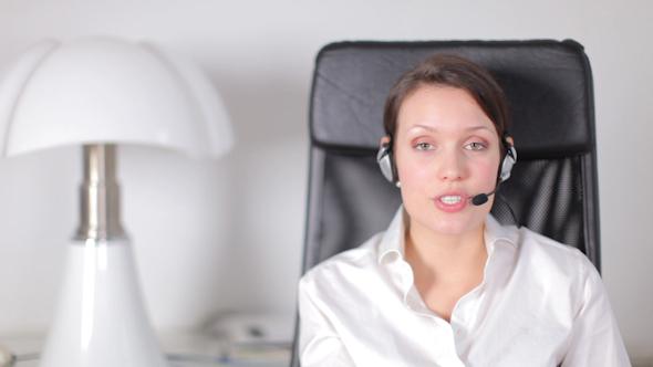 Pretty Customer Service Operator Or Secretary 6