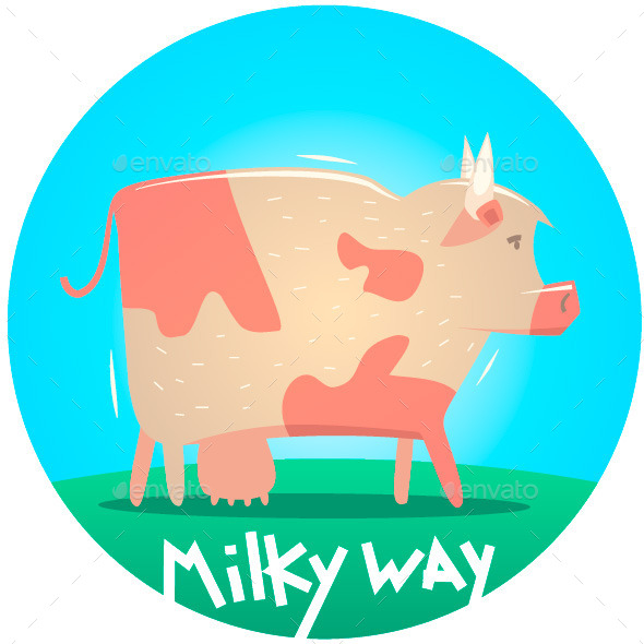 GraphicRiver Cow Illustration 10001861