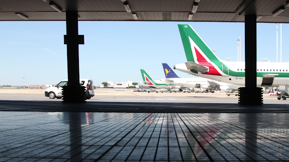 Rome Airport Outside